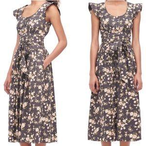 Madeleine Midi Dress by La Vie Rebecca Taylor Gray